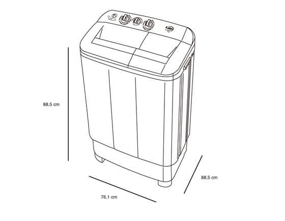 Lavadora semi automática Kalley