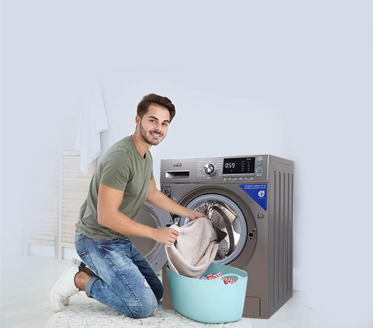 Aspiradorando en casa con la lavadora Kalley