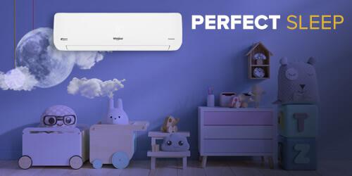 aire acondicionado Whirlpool WA9160Q con control de mando a distancia. Funciónes para sueño perfecto.