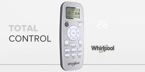 aire acondicionado Whirlpool WA9160Q Con Hidden Panel en el minisplit y control de mando a distancia con pantalla LCD.