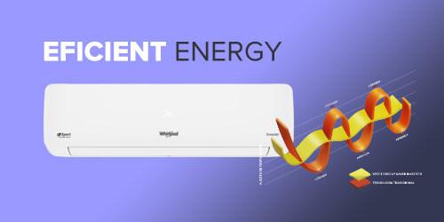 aire acondicionado Whirlpool WA9160Q Eficiencia energética con funcionamiento en baja potencia para ahorro de consumo.