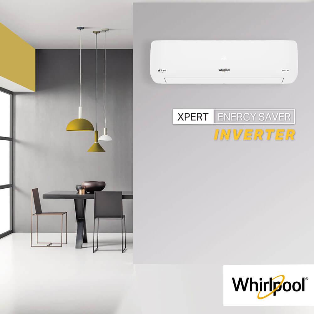 Aire acondicionado Whirlpool WA9160Q Minisplit 18000 BTU con filtro HD.