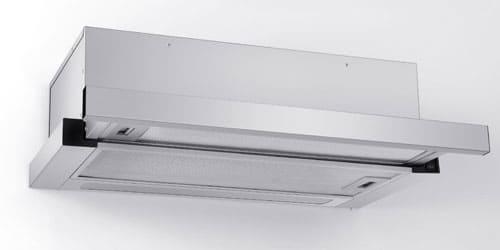 Campana Whirlpool 7797750006361 con excelentes sistemas de filtración con maya lavable altamente resistente en acero inoxidable y filtro anti-grasa.