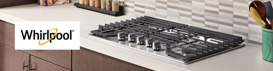 Cubiertas Whirlpool 883049467061 con capacidad para 5 puestos. Perillas de control de aspecto de acero y aptas para lavar en lavavajillas whirlpool. Ambientada en cocina con un gran diseño.