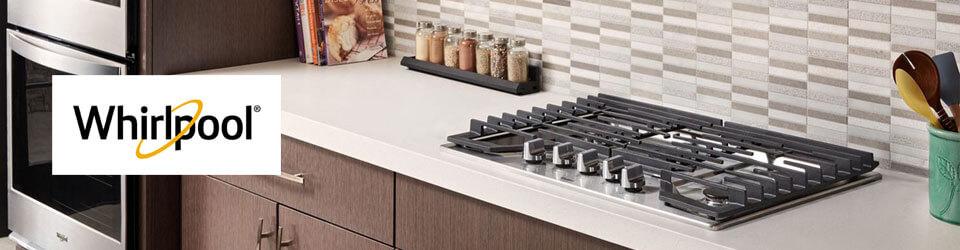 Cubiertas Whirlpool 883049468006 con capacidad para 5 puestos. Perillas de control de aspecto de acero y aptas para lavar en lavavajillas whirlpool. Ambientada en cocina con un gran diseño.