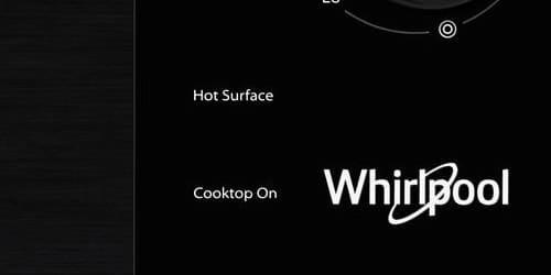 Cubiertas Whirlpool 883049472430 con capacidad para 4 puestos. Indicador de superficie caliente en áreas donde entra en contacto con los recipientes, el resto de la vitrocerámica permanece fría.
