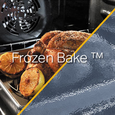 Prpepara alimentos congelados sin necesidad de precalentar o descongelar antes de la cocción. En el horno Whirlpool 883049444635 con la opción Frozen Bake™.