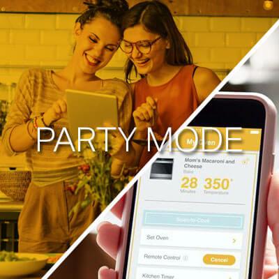 Epezar la preparación desde tu celular o tablet de manera remota con la opción Party Mode. En el horno Whirlpool 883049444840.