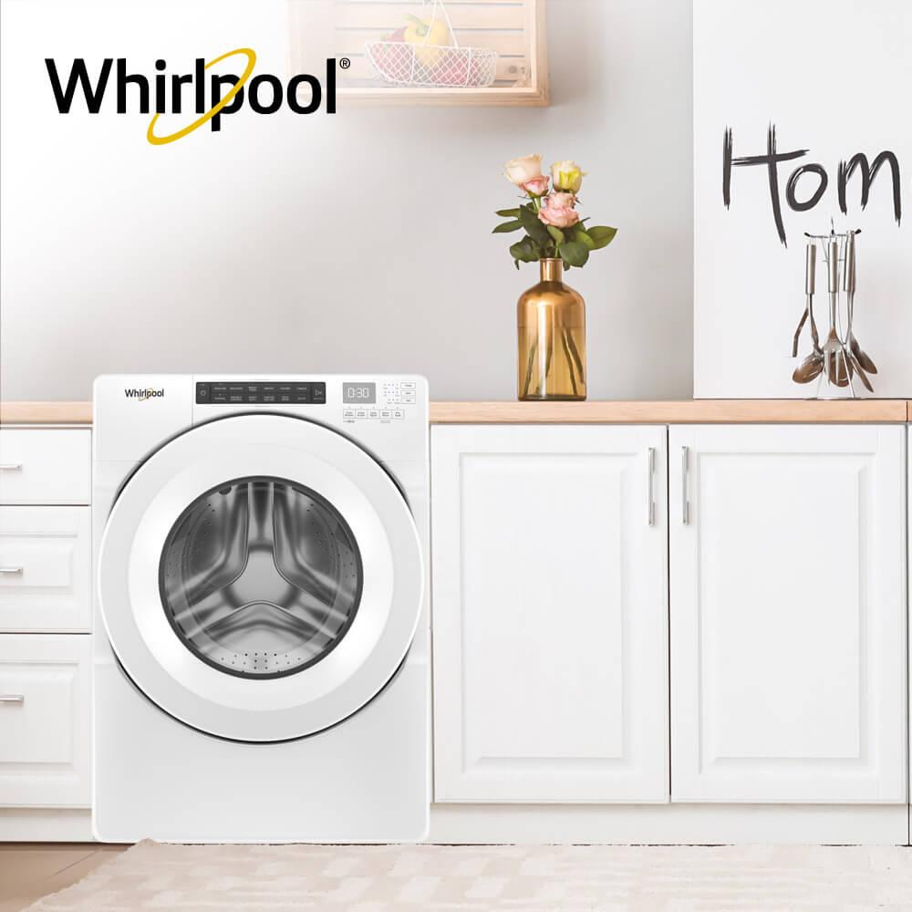 Lavadora carga frontal Slim Whirlpool 883049583426 Sistema de lavado de alta eficiencia, Dimensiones para empotrado o fácil adaptación de espacios.