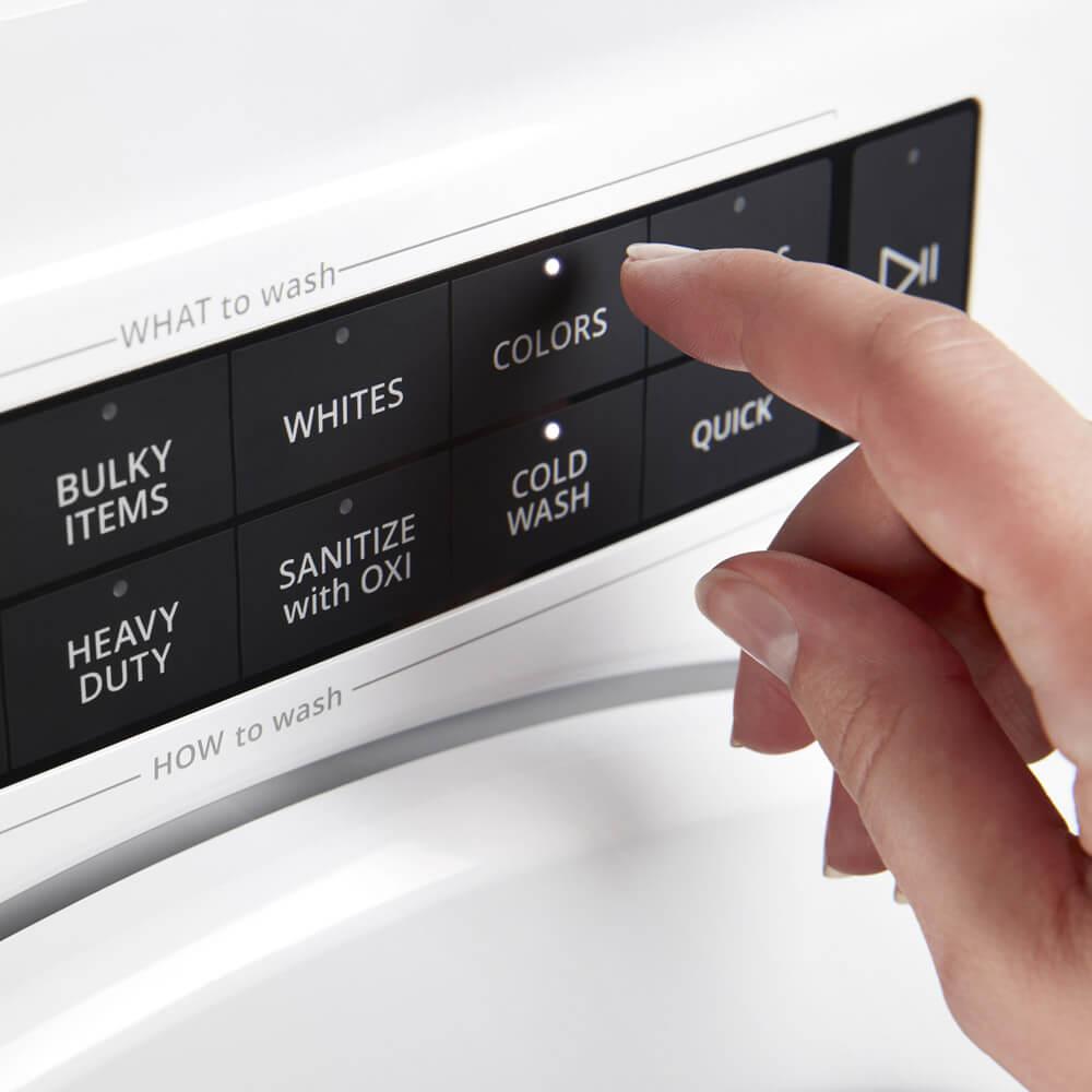 Lavadora carga frontal Slim Whirlpool 883049583426 Panel intuitivo de fácil puesta en marcha con presionar dos botones.