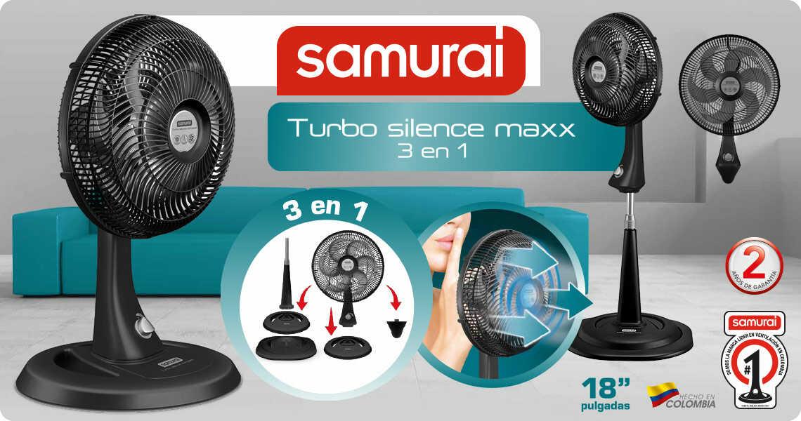 Ventilador de pared y de pedestal Samurai Turbo Silence Compact