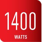 Cuenta con 1400 watts de potencia
