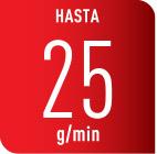 Planchado eficiente con 25g/min