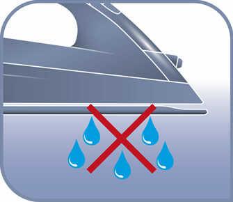 Su función antigoteo evita las manchas de agua en tus prendas