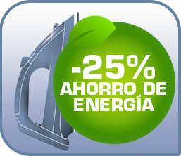 25% de ahorro de energía