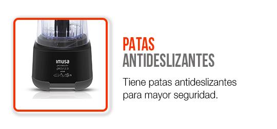 Patas antideslizantes para mayor seguridad.