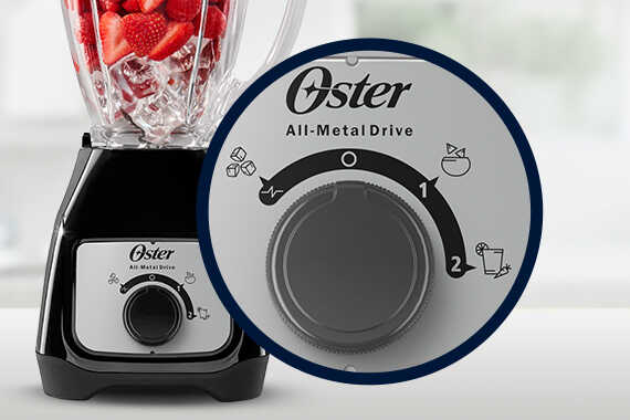 Licuadora OSTER 2 velocidades vaso de Vidrio Negra - BLSTKAG-BRD-013