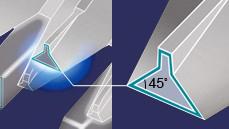 Cuchilla con ángulo de 45°