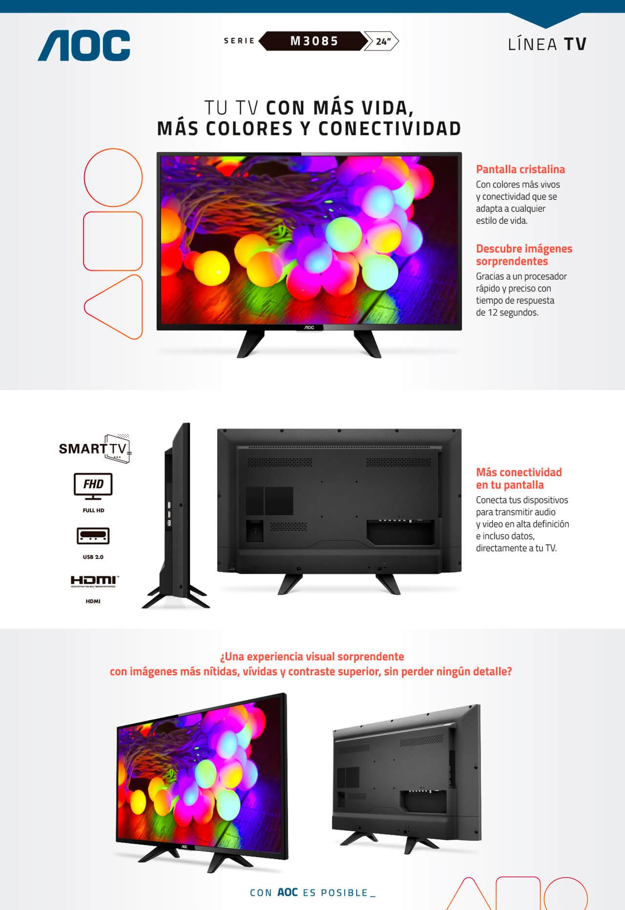Tv 24 60cm AOC 24M3085 FHD