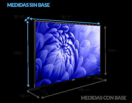 Dimensiones del televisor