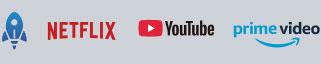 app preinstaladas: netflix, Youtube, Primer